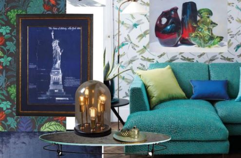 Latest interior trends for 2017: Tropical Blue & Greens