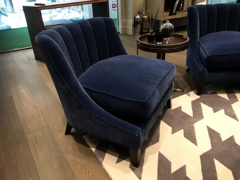 Turche Chairs in Navy Velvet