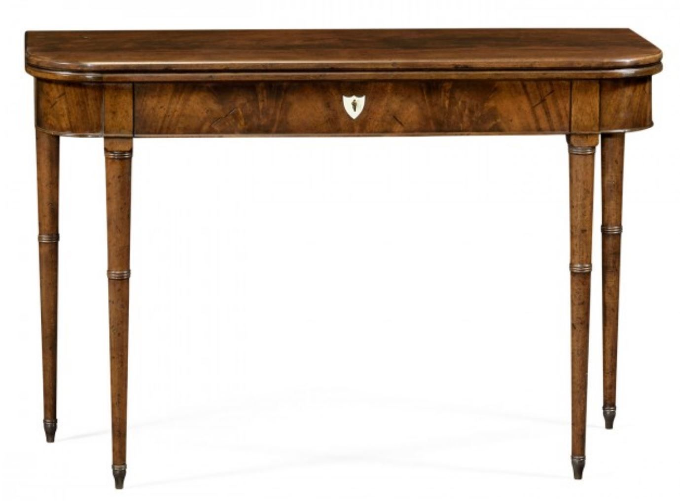Brown Mahogany Lift Top Console Table
